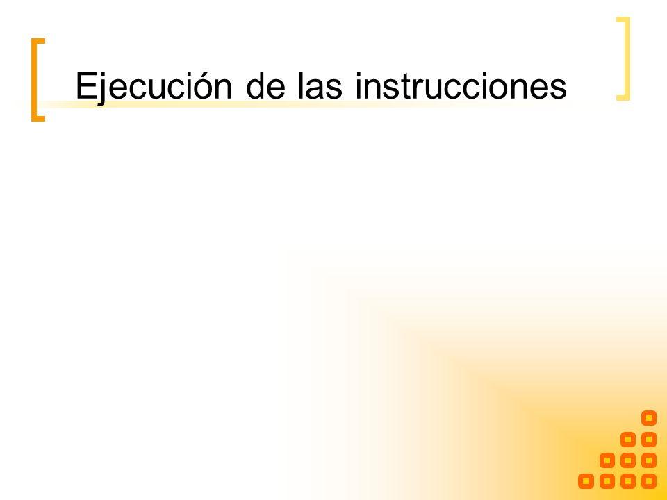 Ejecución de las instrucciones