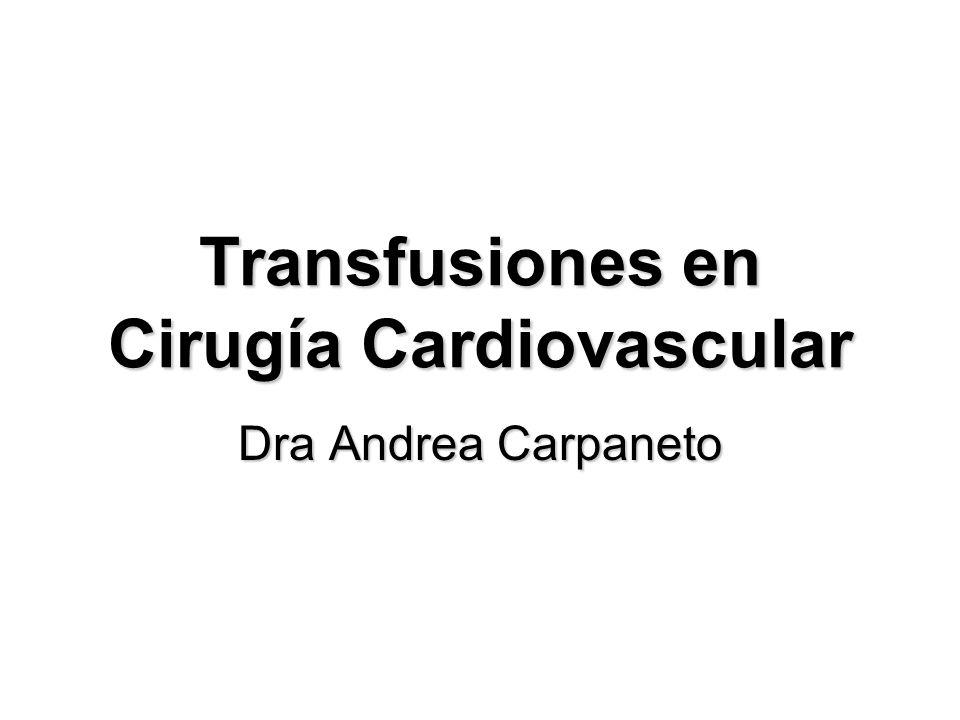 Transfusiones en Cirugía Cardiovascular Dra Andrea Carpaneto