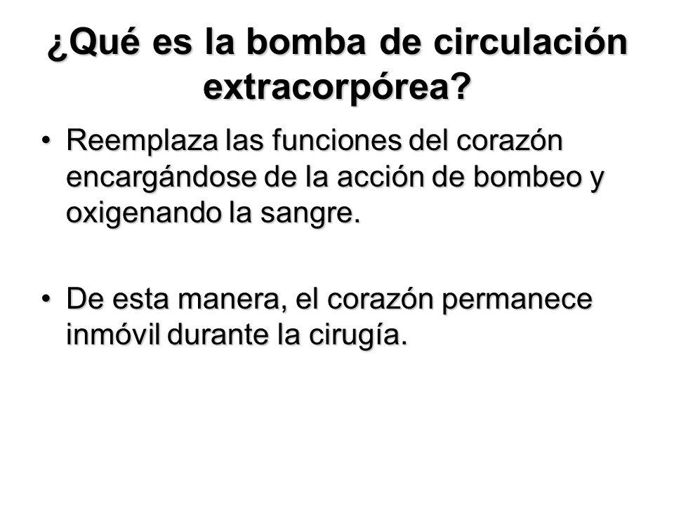 ¿Qué es la bomba de circulación extracorpórea.