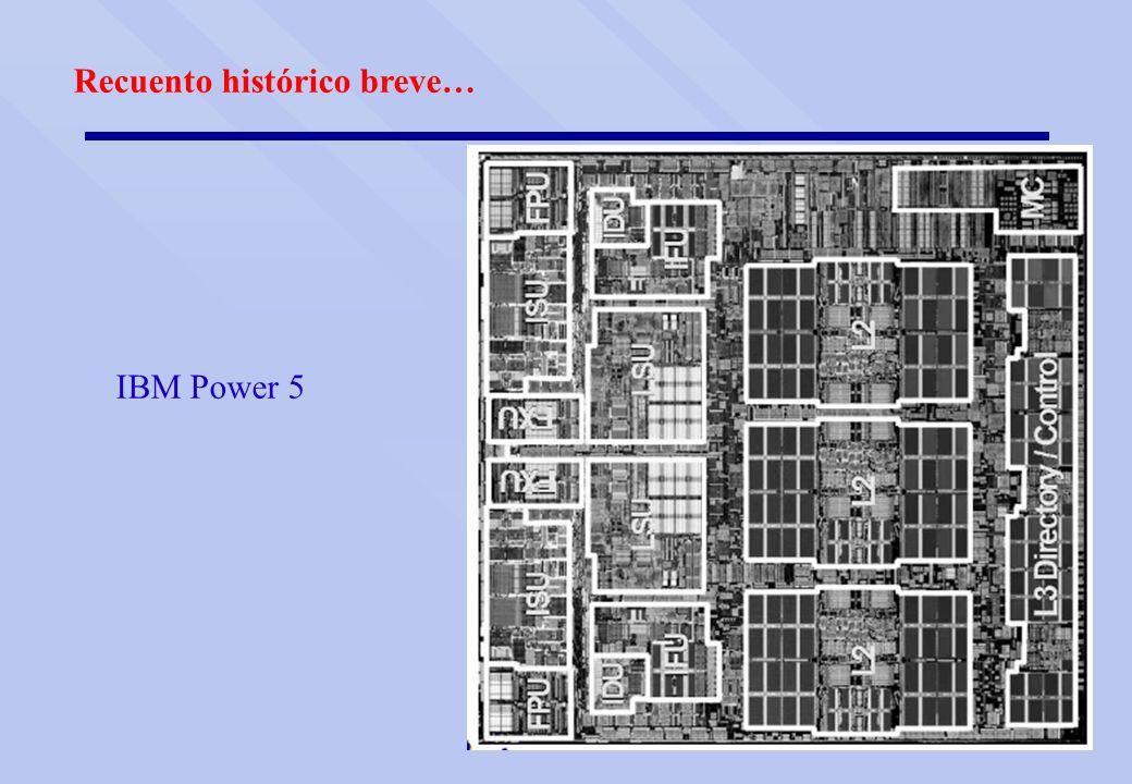 Recuento histórico breve… IBM Power 5