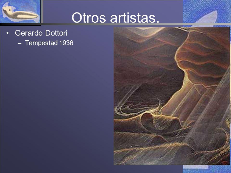 Otros artistas. Gerardo Dottori –Tempestad 1936