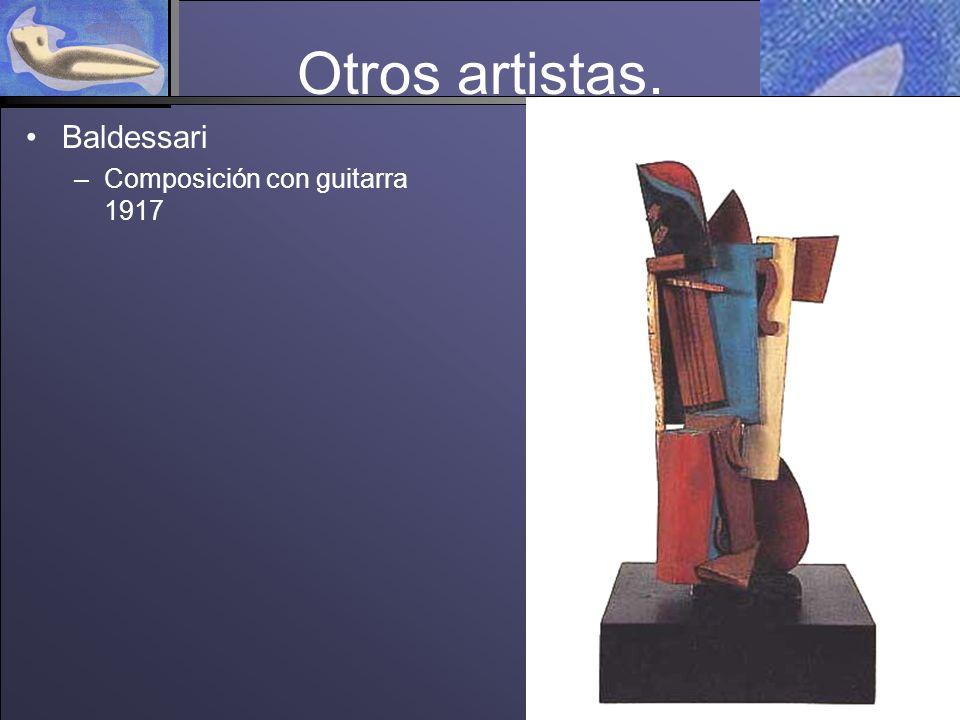 Otros artistas. Baldessari –Composición con guitarra 1917