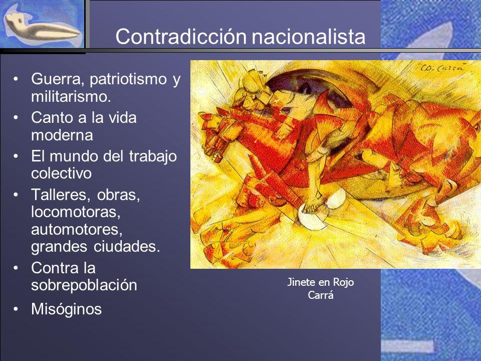 Contradicción nacionalista Guerra, patriotismo y militarismo.