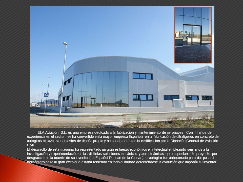 ELA Aviación, S.L. es una empresa dedicada a la fabricación y mantenimiento de aeronaves.