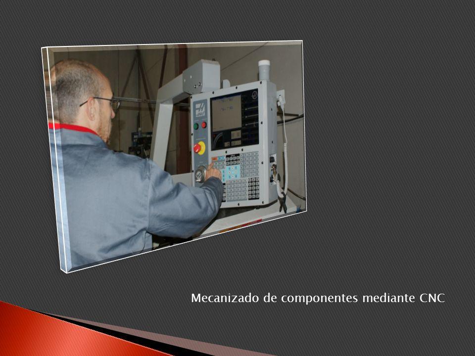 Mecanizado de componentes mediante CNC