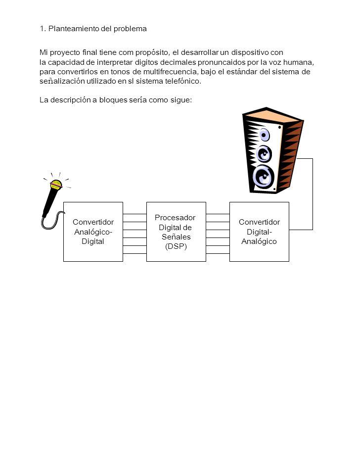 1. Planteamiento del problema Mi proyecto final tiene com prop ó sito, el desarrollar un dispositivo con la capacidad de interpretar digitos decimales