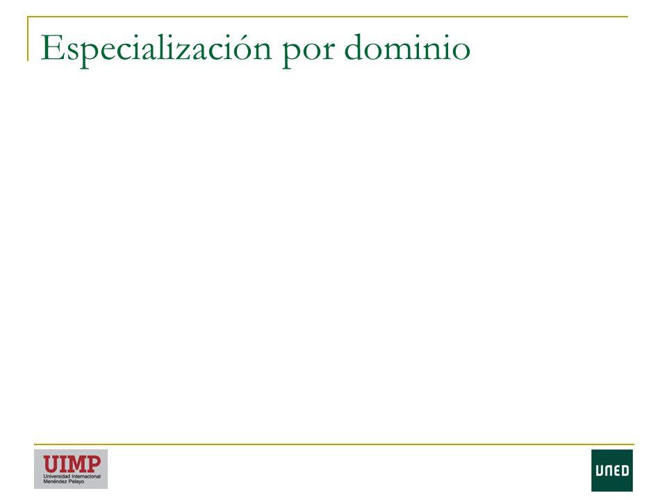Especialización por dominio