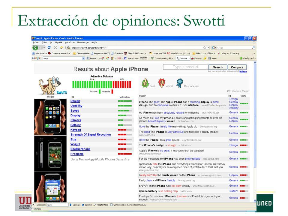 Extracción de opiniones: Swotti