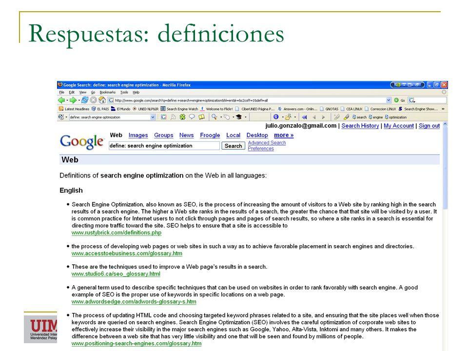 Respuestas: definiciones