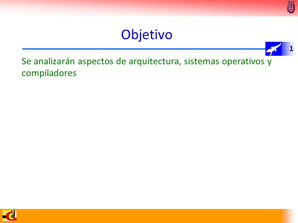 1 Objetivo Se analizarán aspectos de arquitectura, sistemas operativos y compiladores