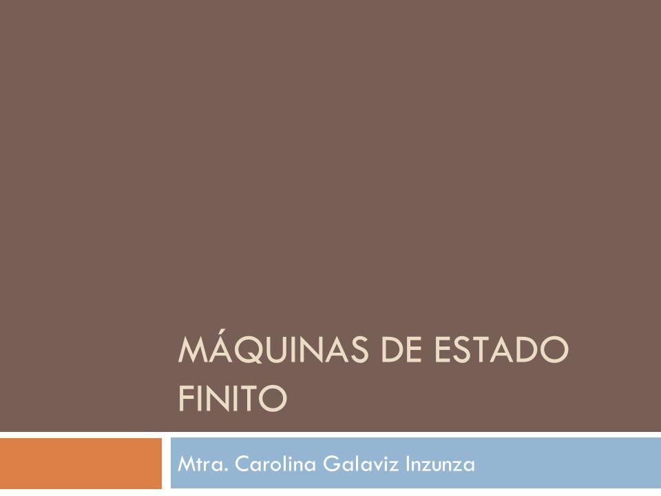 MÁQUINAS DE ESTADO FINITO Mtra. Carolina Galaviz Inzunza
