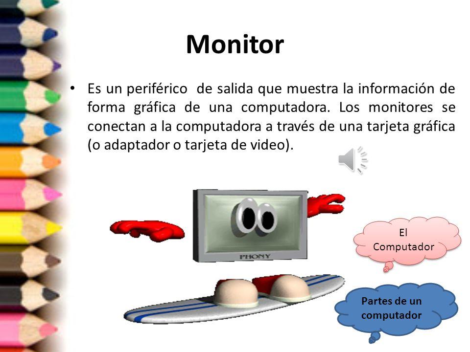 Partes de un computador El Computador El Computador Monitor UNIDAD DE DISCO FLEXIBLE DISCO FLEXIBLE IMPRESORA LASER CD-ROM LECTOR DE CD- ROM TECLADO R