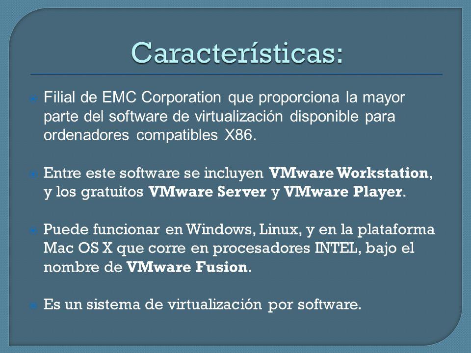 Filial de EMC Corporation que proporciona la mayor parte del software de virtualización disponible para ordenadores compatibles X86. Entre este softwa