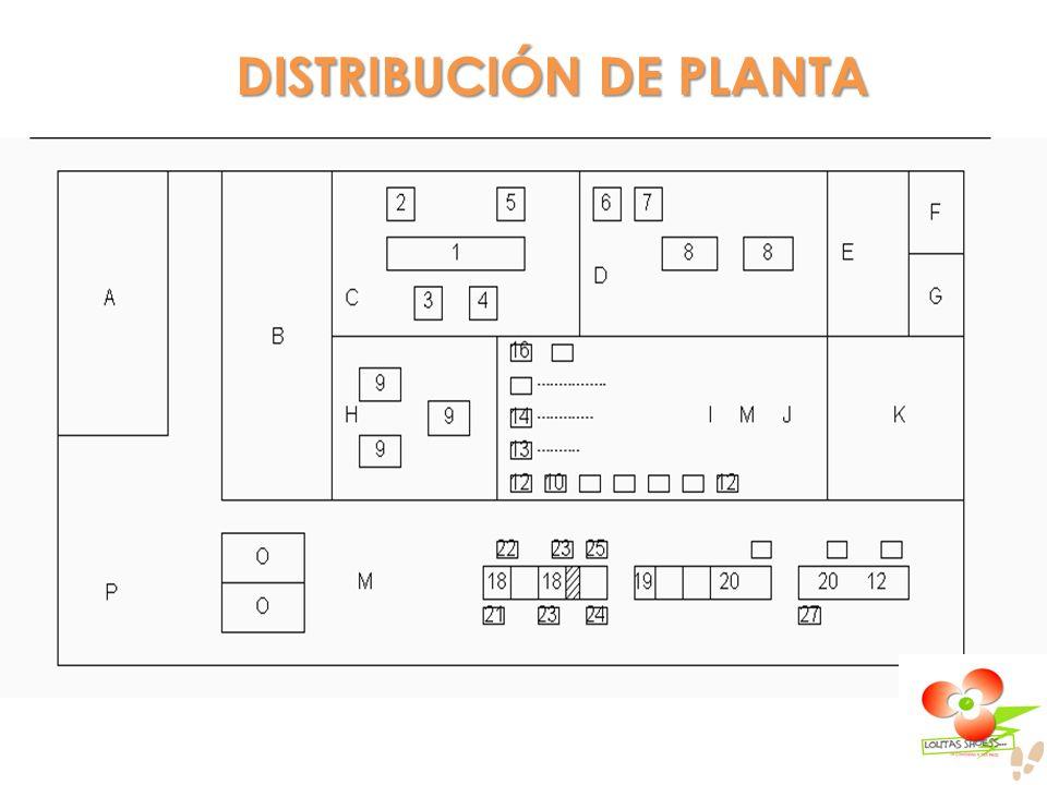 DISTRIBUCIÓN DE PLANTA