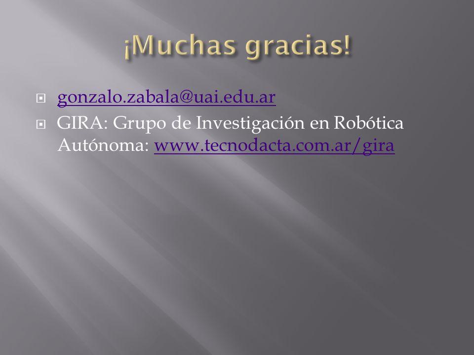 gonzalo.zabala@uai.edu.ar GIRA: Grupo de Investigación en Robótica Autónoma: www.tecnodacta.com.ar/girawww.tecnodacta.com.ar/gira