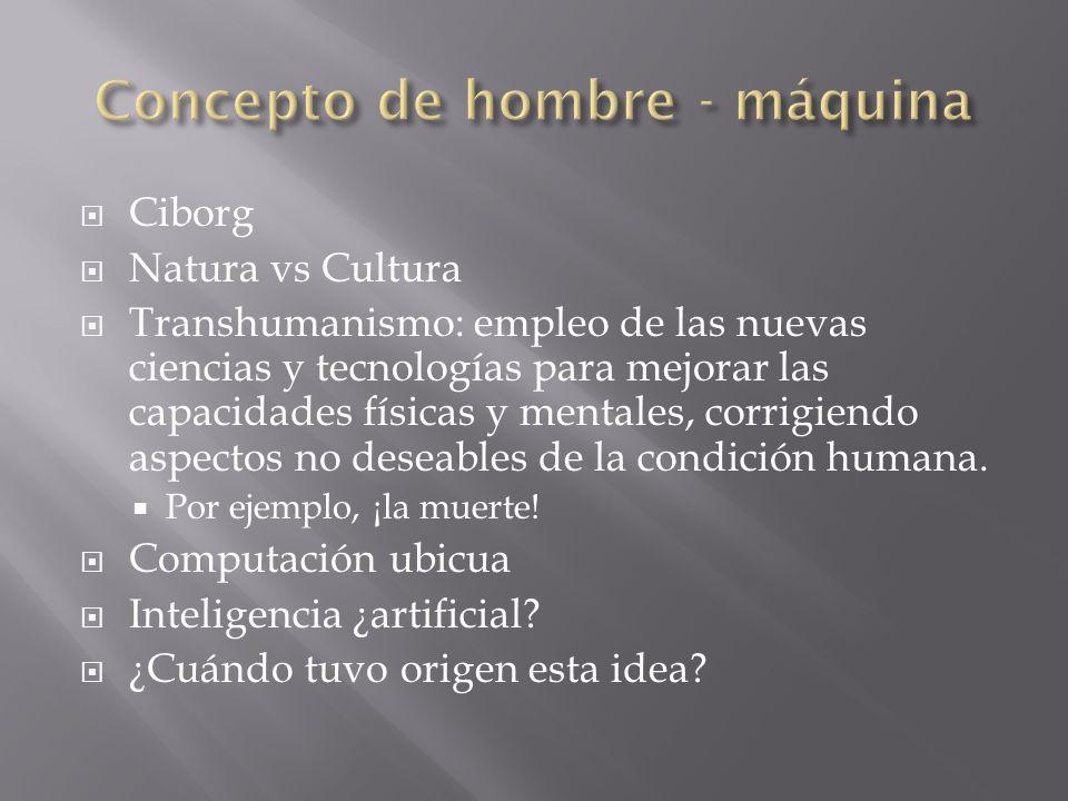 Ciborg Natura vs Cultura Transhumanismo: empleo de las nuevas ciencias y tecnologías para mejorar las capacidades físicas y mentales, corrigiendo aspe