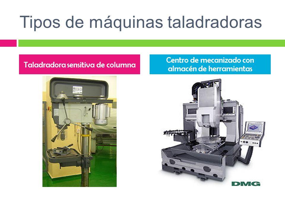 Tipos de máquinas taladradoras Taladradora sensitiva de columna Centro de mecanizado con almacén de herramientas