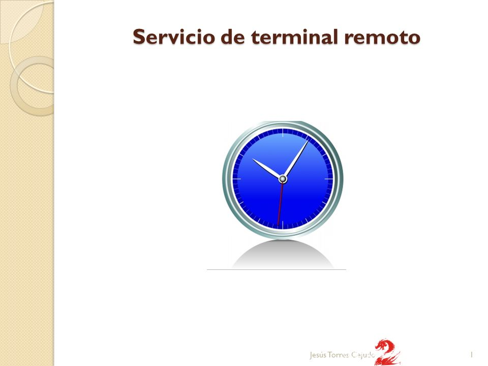 Servicio de terminal remoto 1Jesús Torres Cejudo