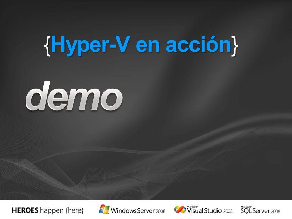 {Hyper-V en acción}