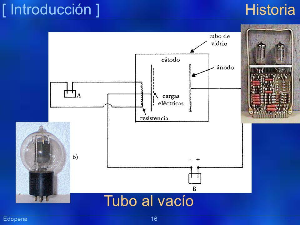 [ Introducción ] Präsentat ion Historia Tubo al vacío Edopena 16