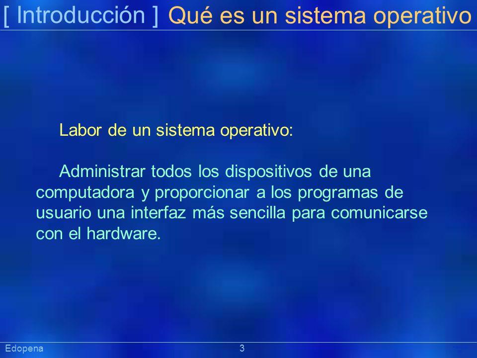[ Introducción ] Präsentat ion Labor de un sistema operativo: Administrar todos los dispositivos de una computadora y proporcionar a los programas de