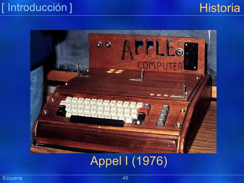 [ Introducción ] Präsentat ion Edopena 49 Historia Appel I (1976)