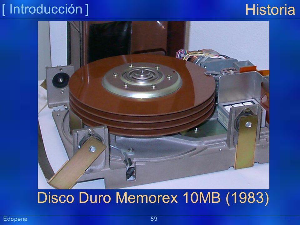 [ Introducción ] Präsentat ion Edopena 59 Historia Disco Duro Memorex 10MB (1983)