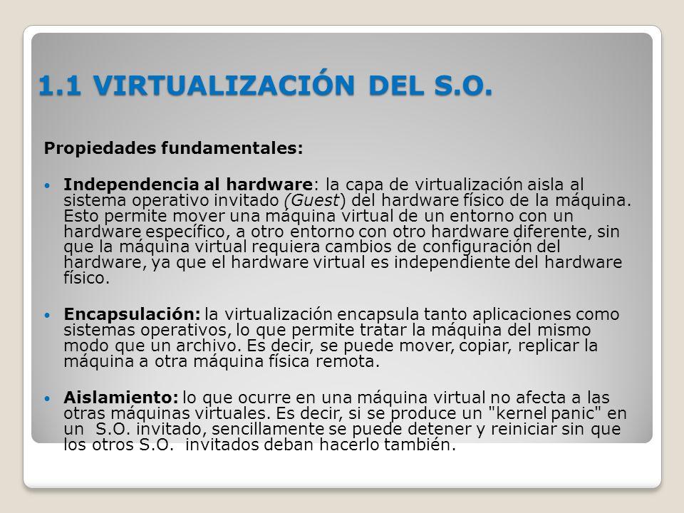 1.1 VIRTUALIZACIÓN DEL S.O.