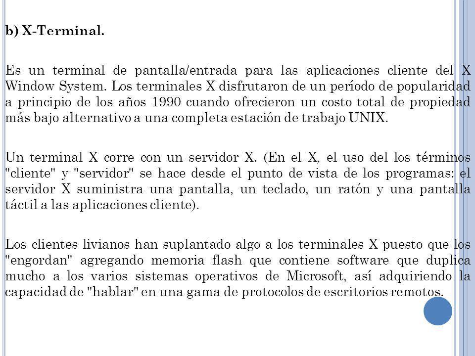 b) X-Terminal.