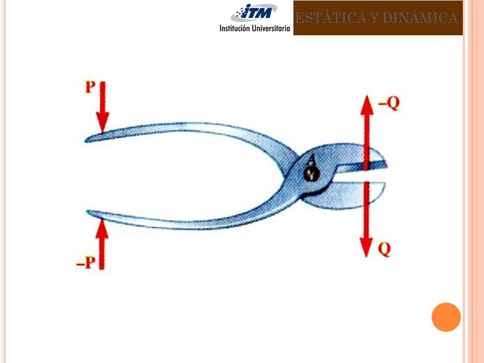 Diagrama de fuerza sobre el mango ABC y el perno CDE.