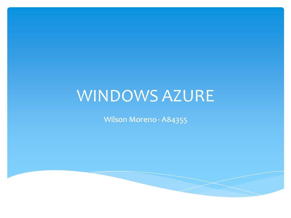 Introducción.¿Qué es Windows Azure. Arquitectura.