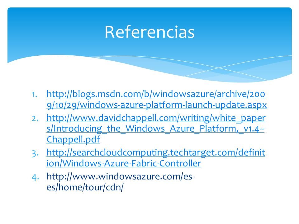 1.http://blogs.msdn.com/b/windowsazure/archive/200 9/10/29/windows-azure-platform-launch-update.aspxhttp://blogs.msdn.com/b/windowsazure/archive/200 9