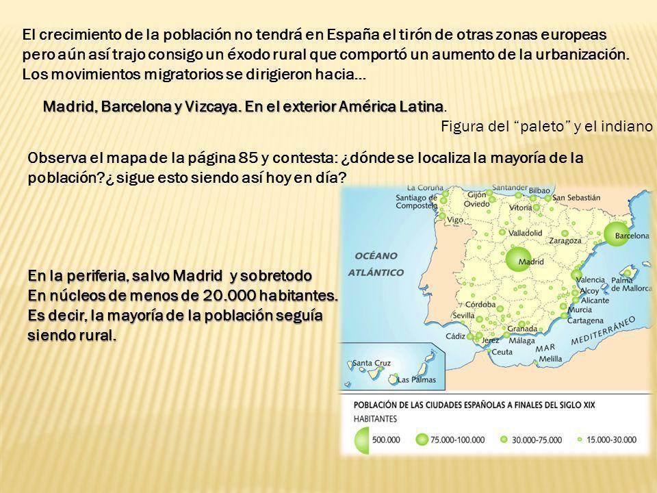 El crecimiento de la población no tendrá en España el tirón de otras zonas europeas pero aún así trajo consigo un éxodo rural que comportó un aumento