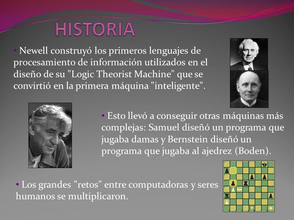 Newell construyó los primeros lenguajes de procesamiento de información utilizados en el diseño de su