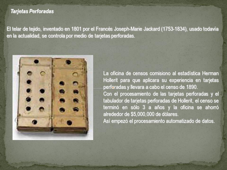 Es esta la primera máquina procesadora de información.