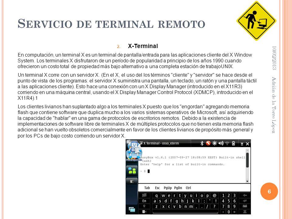 S ERVICIO DE TERMINAL REMOTO 2.