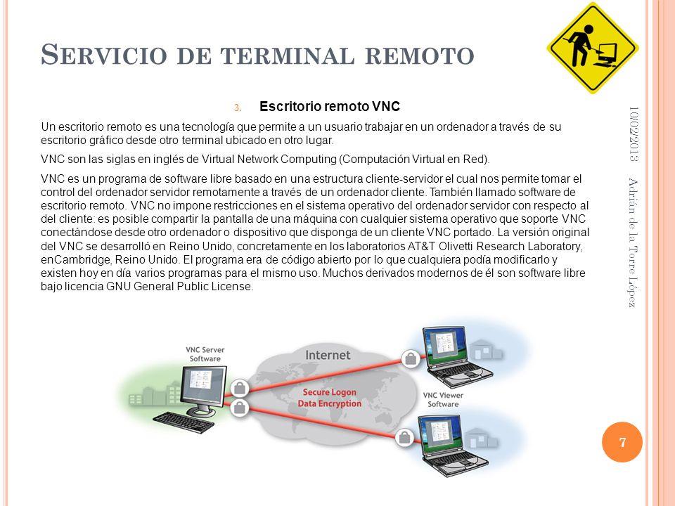 S ERVICIO DE TERMINAL REMOTO 3.