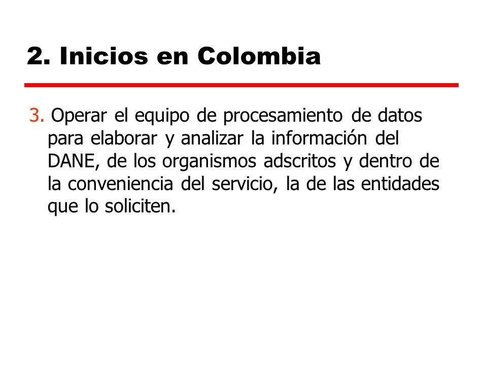 2.Inicios en Colombia 3.