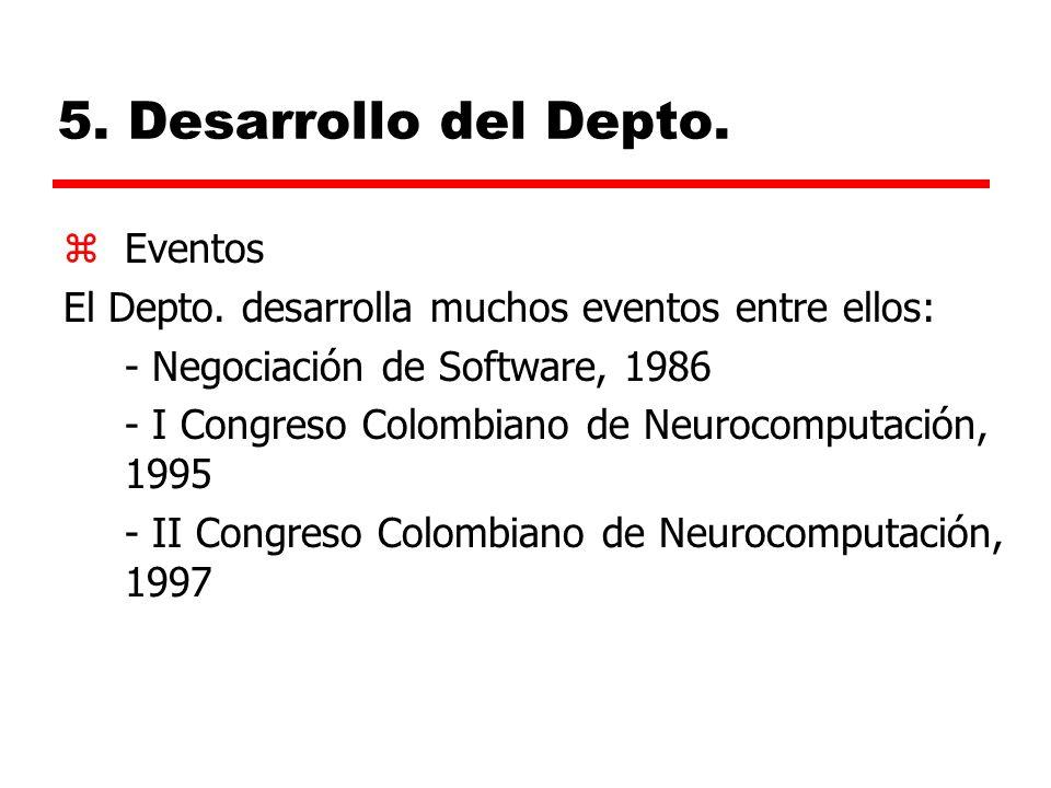 5.Desarrollo del Depto. zEventos El Depto.