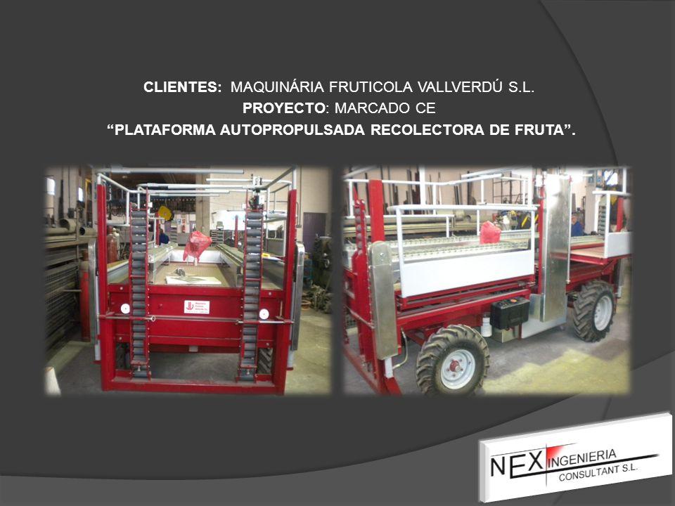 CLIENTES: MAQUINÁRIA FRUTICOLA VALLVERDÚ S.L.