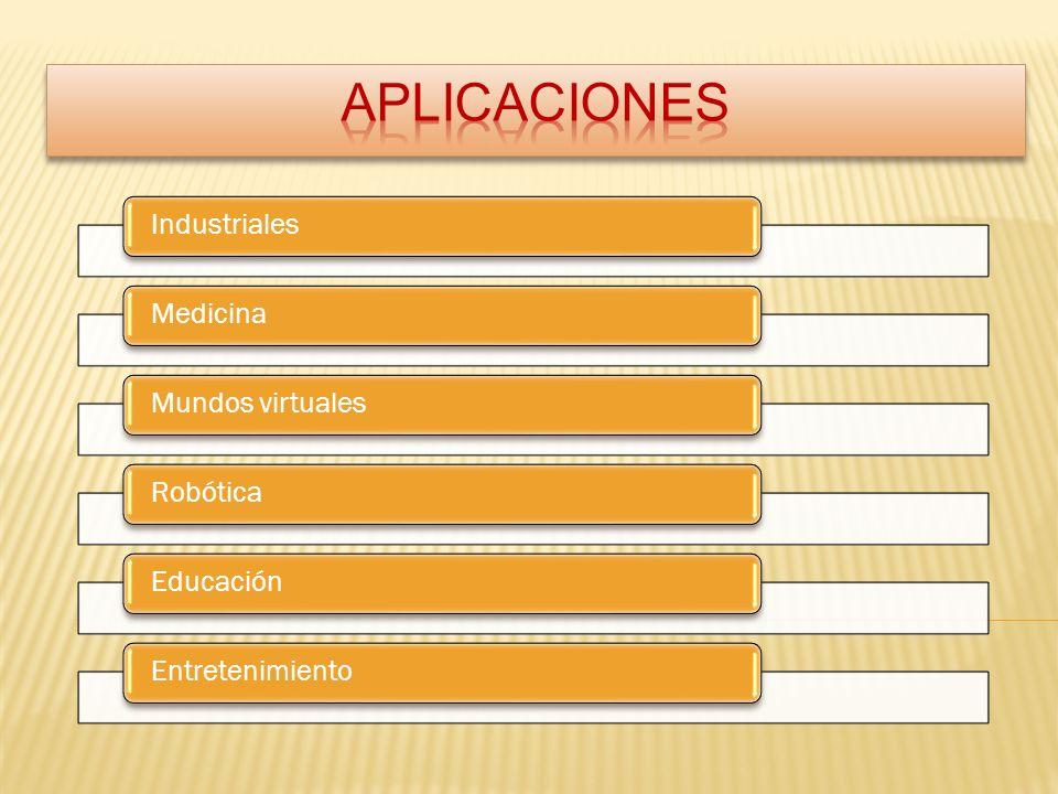 IndustrialesMedicinaMundos virtualesRobóticaEducaciónEntretenimiento
