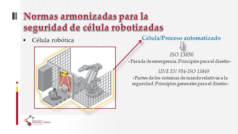 Célula robótica Célula/Proceso automatizado ISO 13850 «Parada de emergencia.