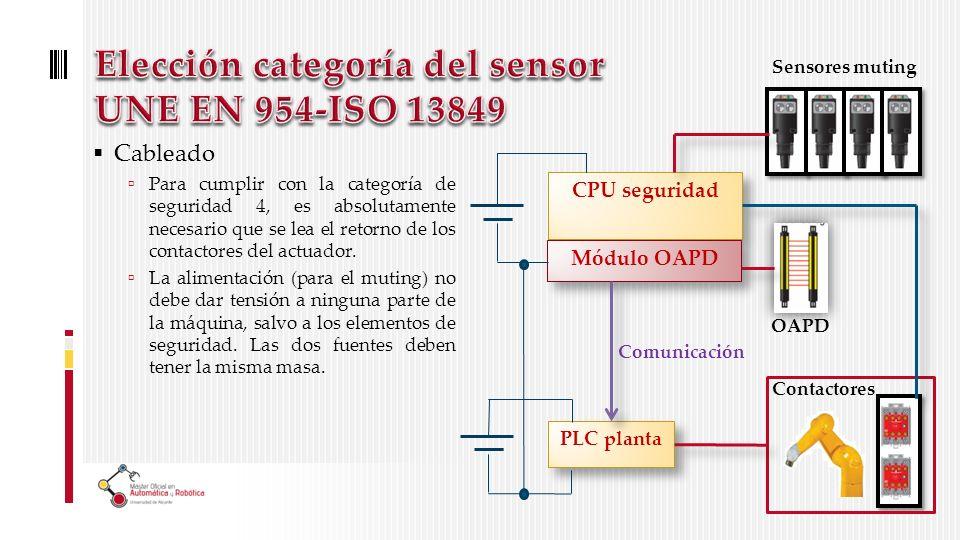 Cableado Para cumplir con la categoría de seguridad 4, es absolutamente necesario que se lea el retorno de los contactores del actuador.