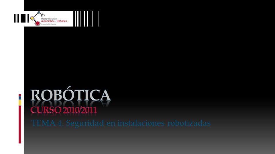 TEMA 4. Seguridad en instalaciones robotizadas