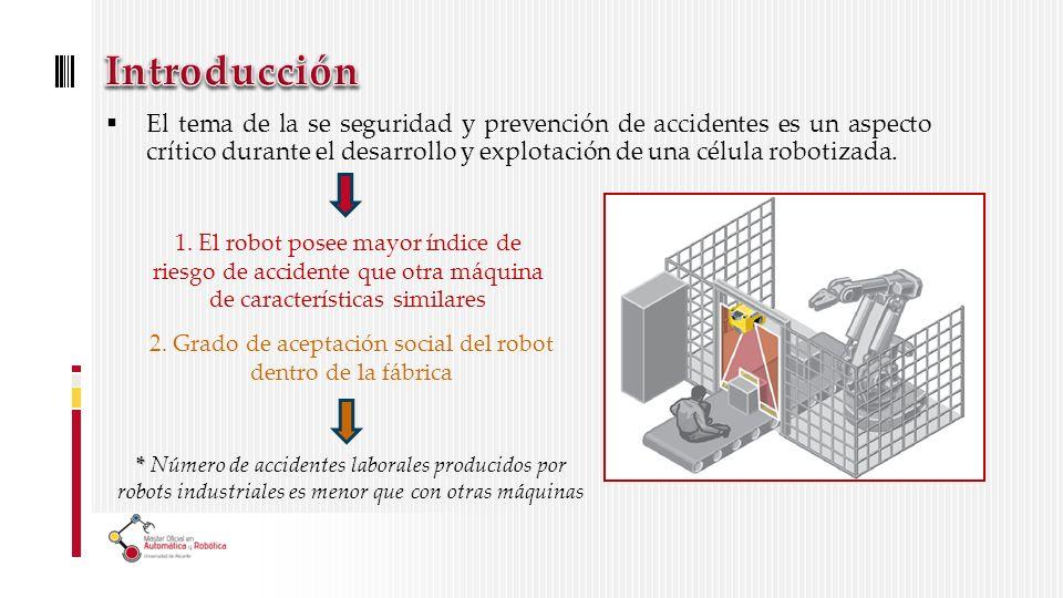 El tema de la se seguridad y prevención de accidentes es un aspecto crítico durante el desarrollo y explotación de una célula robotizada.