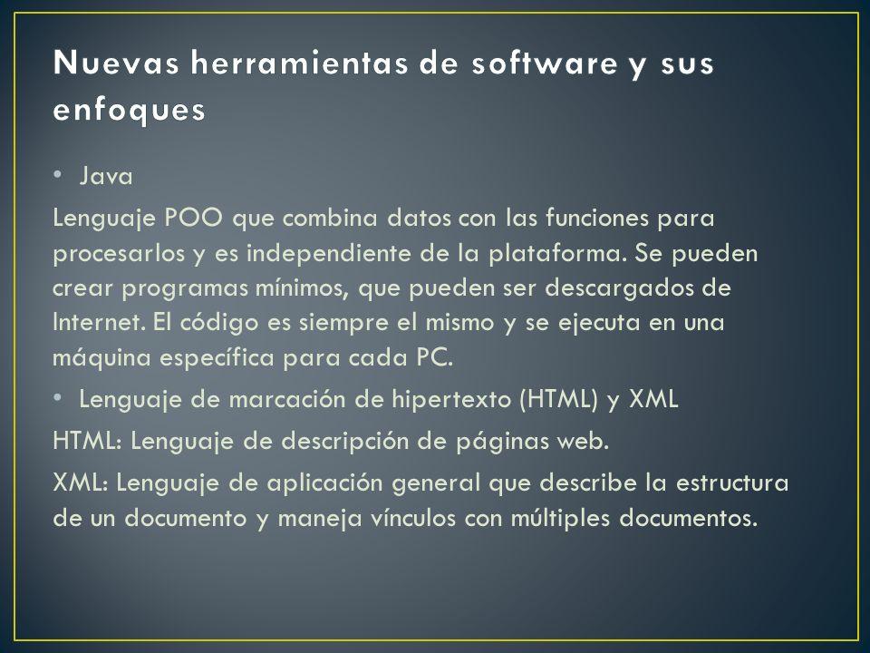 Java Lenguaje POO que combina datos con las funciones para procesarlos y es independiente de la plataforma. Se pueden crear programas mínimos, que pue