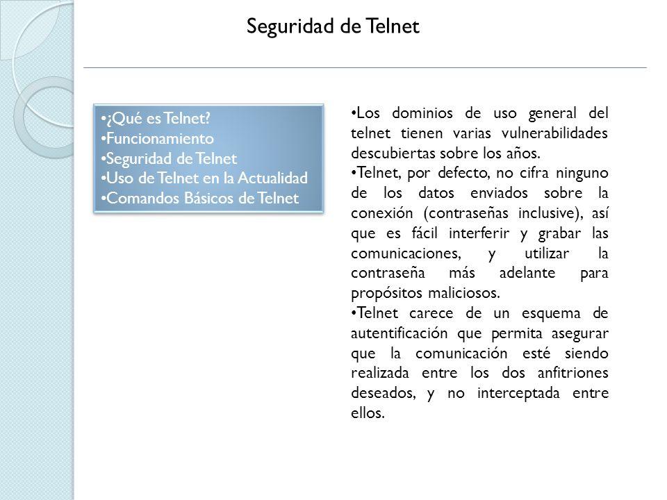 Telnet en la Actualidad ¿Qué es Telnet.