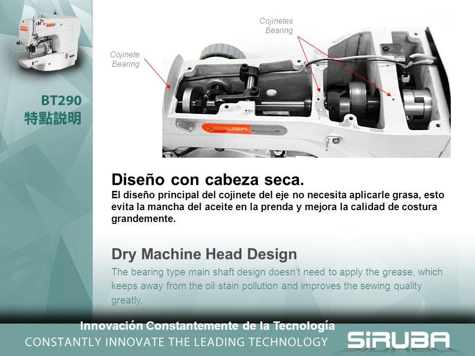 Cojinetes Bearing Cojinete Bearing Diseño con cabeza seca.