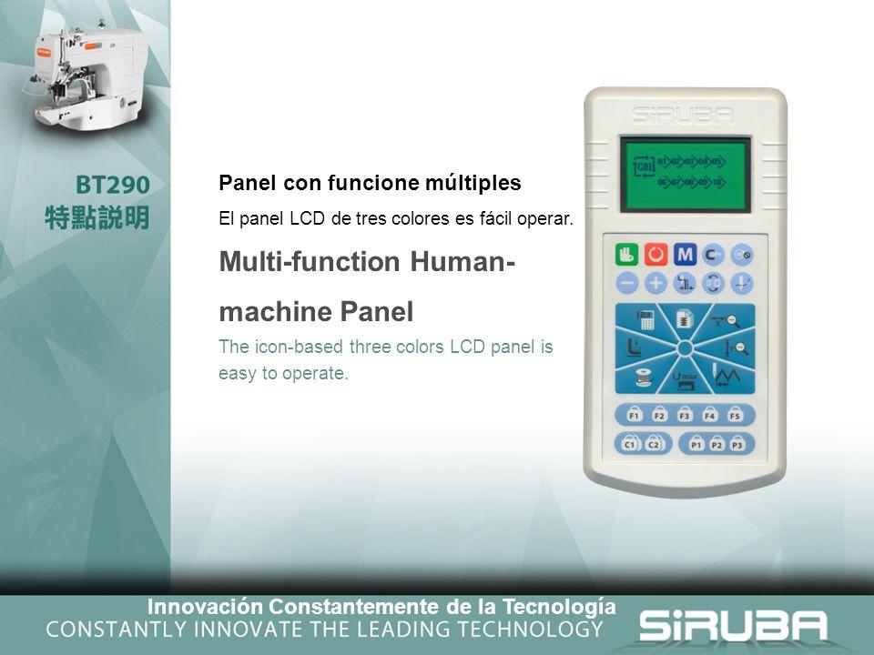 Panel con funcione múltiples El panel LCD de tres colores es fácil operar.