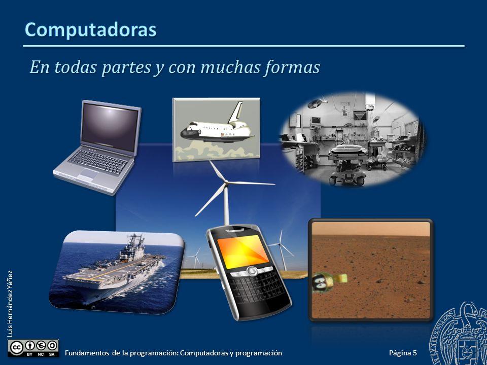 Luis Hernández Yáñez En todas partes y con muchas formas Página 5 Fundamentos de la programación: Computadoras y programación